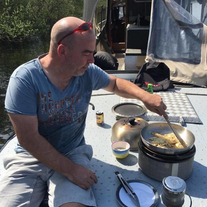 Freiboot Jan Heemskerk Marcel Maassen vis barbeque Don Pancho Kookeiland
