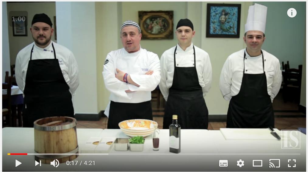 4 Italiaanse chefs bereiden spaghetti con colatura di alici