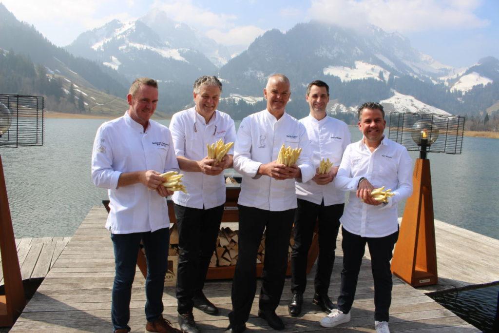 Asperge diner gala Zwitserland koks