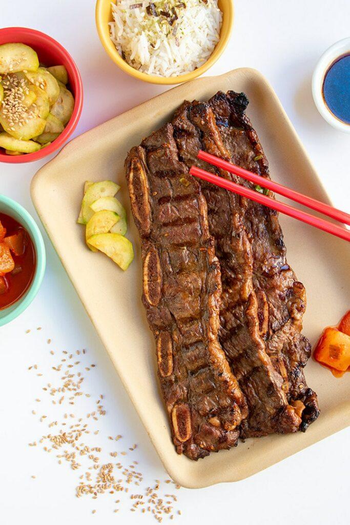 Kalbi, Koreaanse short ribs snel en heet gegrild