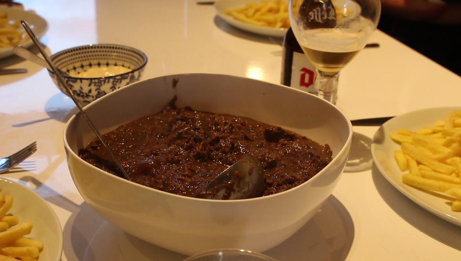 Stoofvlees met speculaaskruiden, trappistenbier en PX sherry